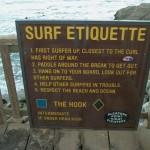etiqueta en el surf